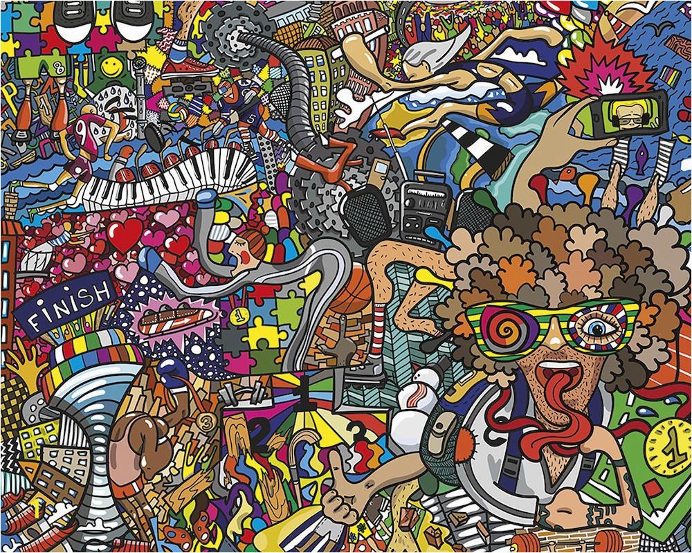 wals0317 ohpopsi wallpaper mural sports illustrations