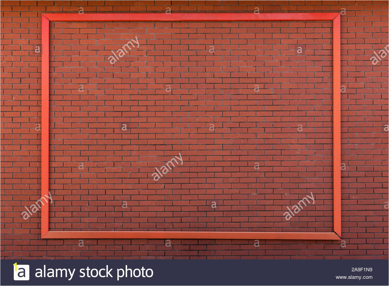 Brick Wall Mural Mockup Poster Frame On Brick Wall Stock Alamy