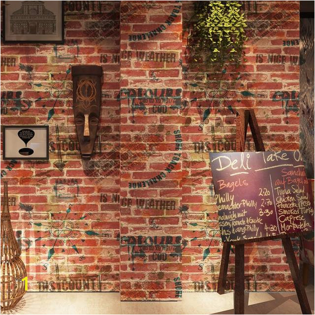 Vintage Imitation Brick 3D Wallpaper Roll Graffiti Art Bar Restaurant Cafe PVC Vinyl Wall Paper Background 640x640q70