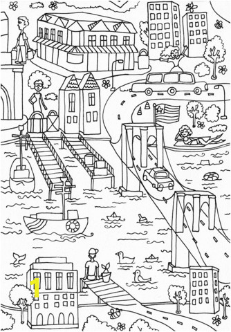 brooklyn bridge coloring page