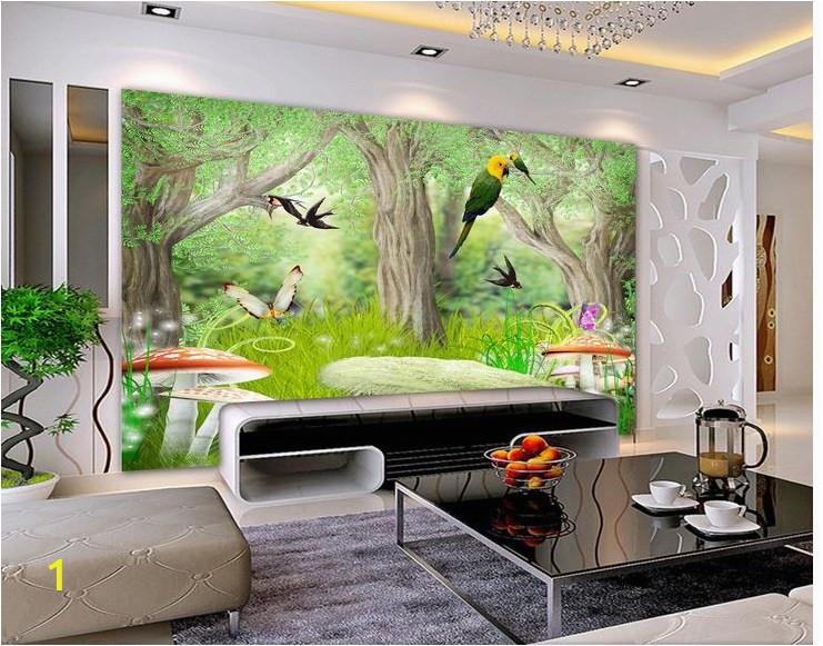 Custom photo wallpaper 3d wall murals wallpaper Forest natural scenery landscape figure TV setting wall of