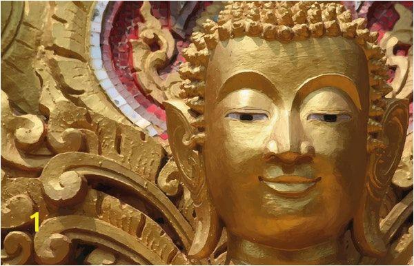 Buddha Wall Mural Wallpaper Buddha Head Gold Wall Mural Wallpaper Lifestyles