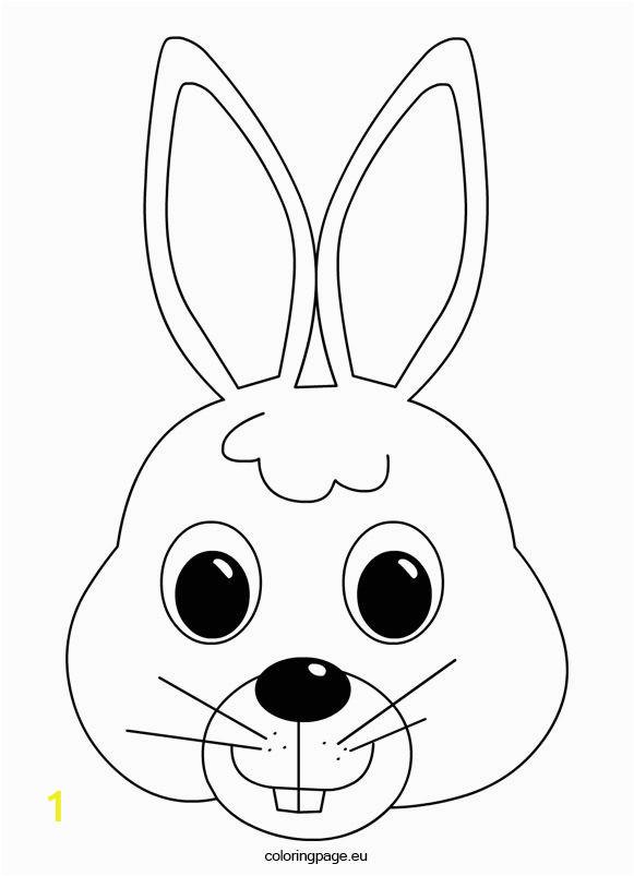 Bunny Mask Coloring Page Bunny Mask