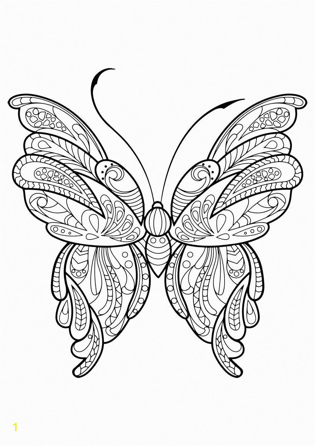 Butterfly Mandala Coloring Pages Realistic Typed Mindfulness Techniques