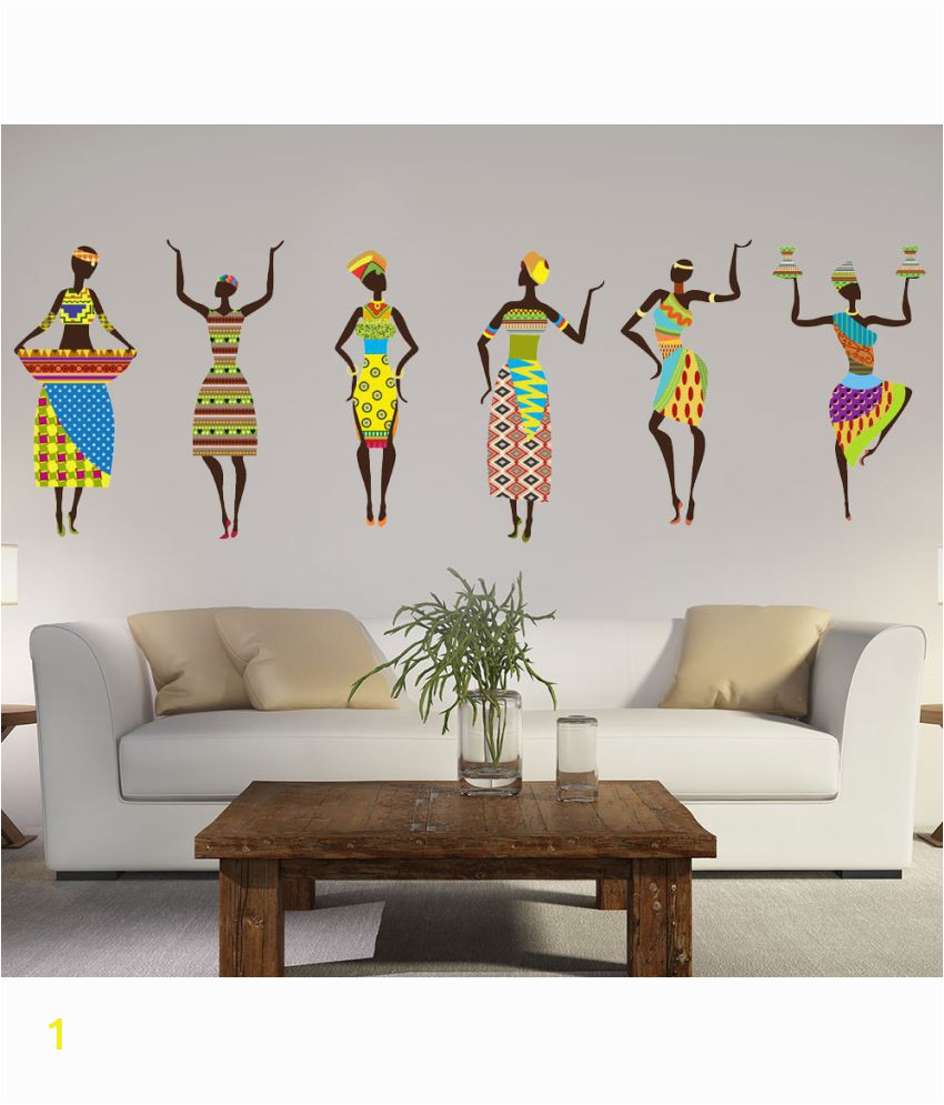 Buy Wall Murals Online India Newwaydecals Wonderful Art Dance Pvc Multicolour Wall Stickers