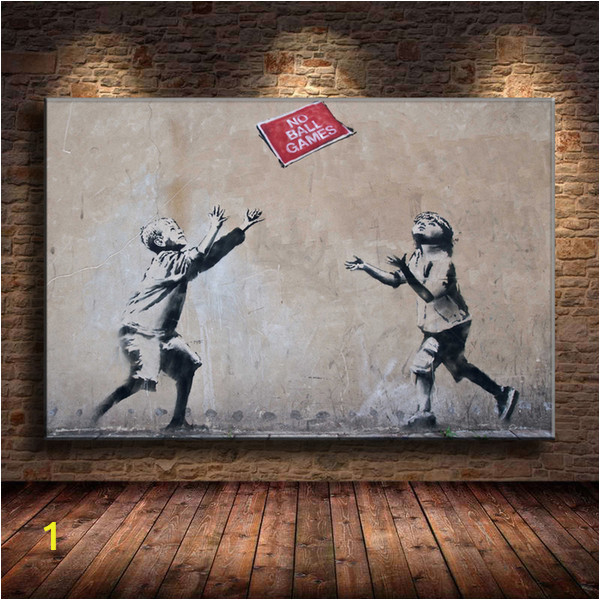 Canvas Wall Art Murals 2019 Unframed Framed Mural by Banksy 2 Canvas Prints Wall Art Oil Painting Home Decor 24×36 From Mingfeng2018 $5 98
