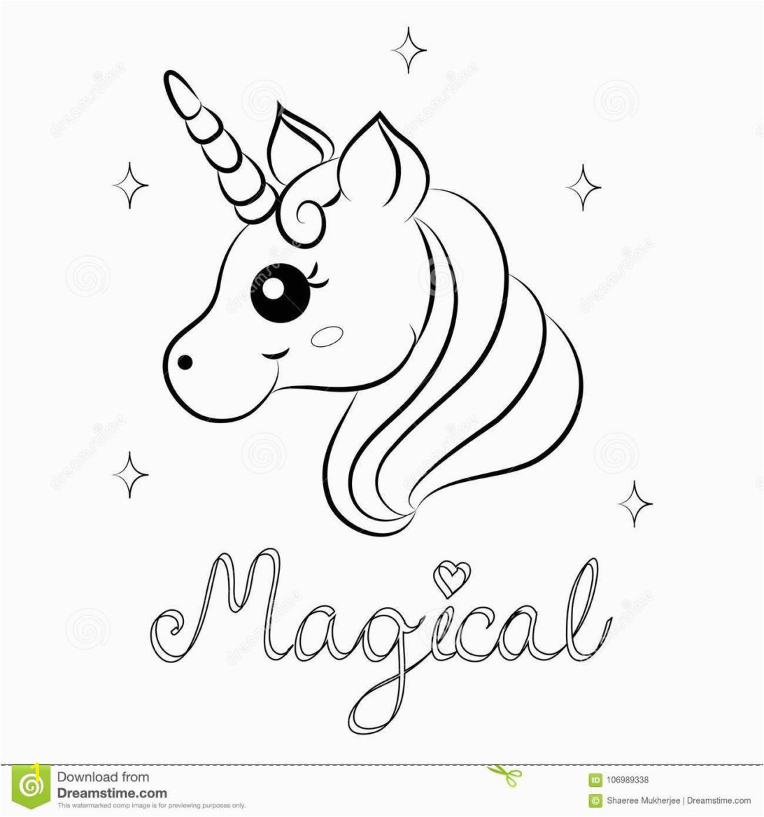 coloring pages cute unicorn magical awesome vector page illustration word printable horse 1092x1168