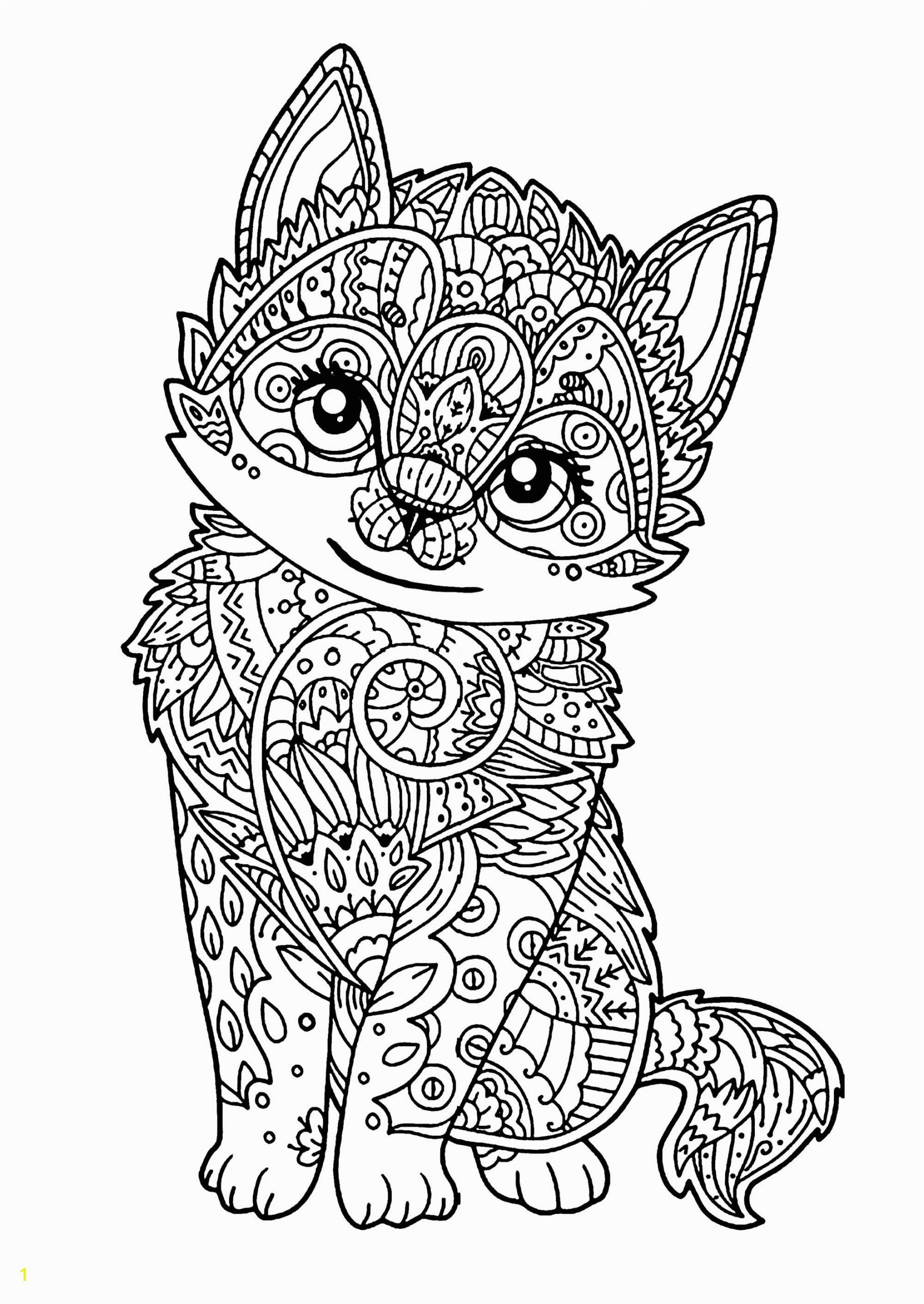 catg pages kitten pusheen black and white unicorn free pete the realistic fox coloring realt printable