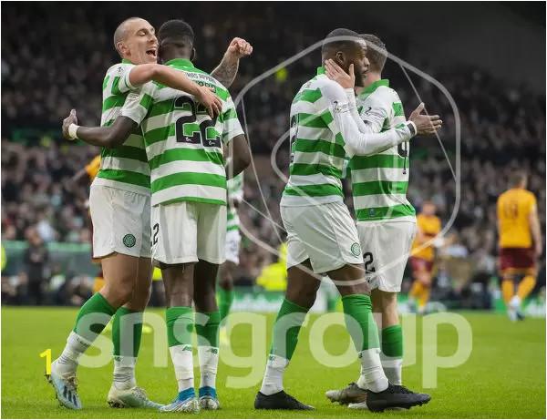 celtics odsonne edouard celebrates goal scott brown webp