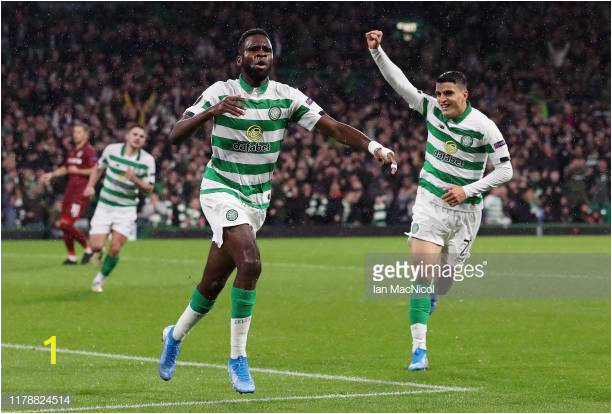 odsonne edouard of celtic celebrates after scoring his teams first picture id