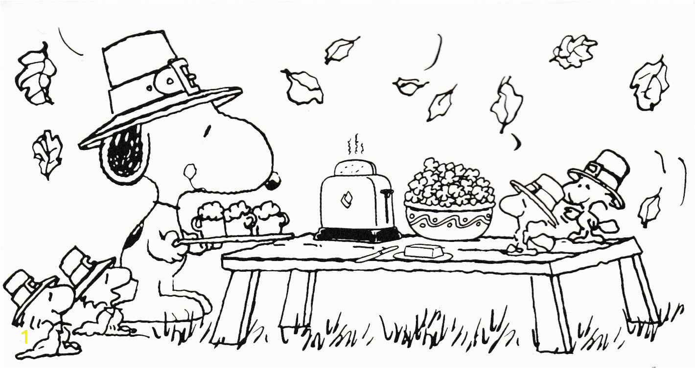 Charlie Brown Thanksgiving Coloring Pages Snoopy Thanksgiving Coloring Sheet