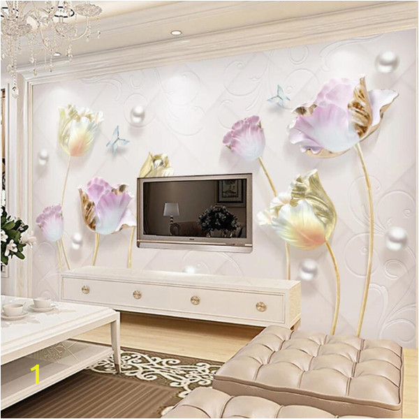 Chinese Wall Murals Wallpaper Wallpaper 3d Murals Embossed Elegant New Chinese Simple Jewelry Tulip Background Wall Decorative Wallpaper Wallpapers Free Download Wallpapers