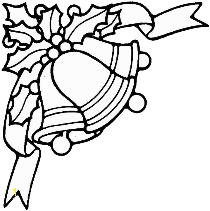 Christmas Bells Coloring Pages Printable Christmas ornament Patterns
