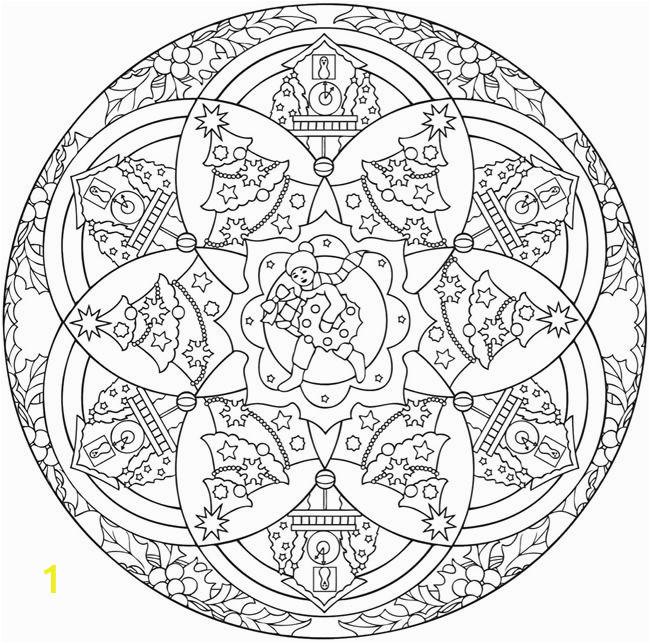 Christmas Mandala Coloring Pages Mandalas De Navidad