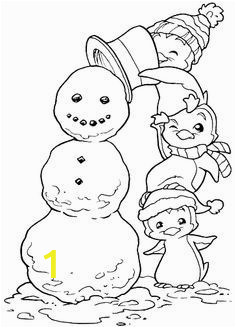 Christmas Penguin Coloring Pages Christmas Penguin Digital Stamp