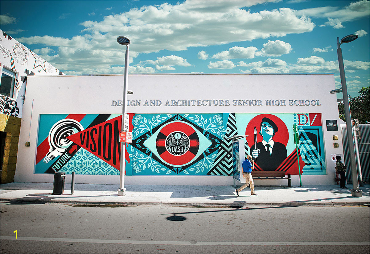 Shepard Fairy Art Basel Miami Mural for DASH
