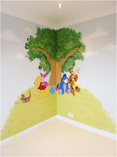 Classic Pooh Wall Mural Winnie the Pooh and Friends Corner Feature Wall Mural