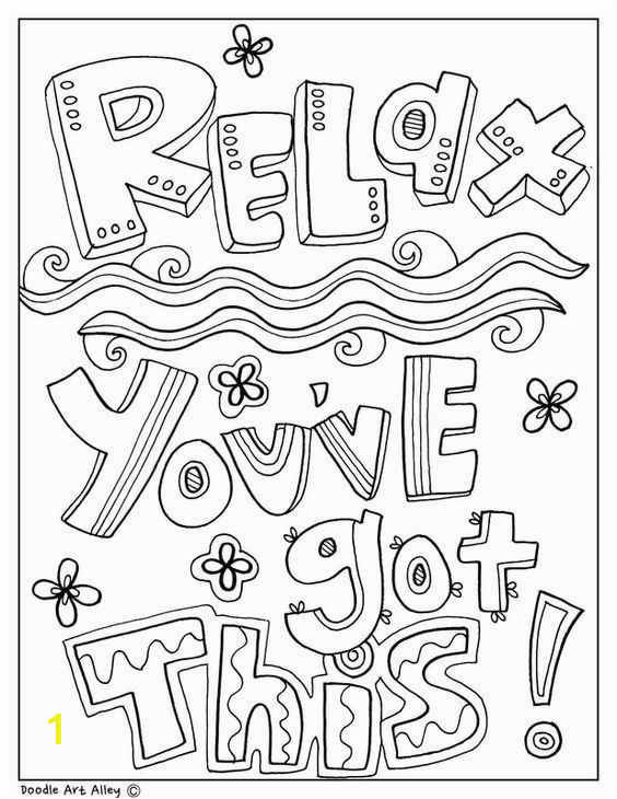 Classroom Coloring Pages for Kids Free and Printable Quote Coloring Pages Perfect for the
