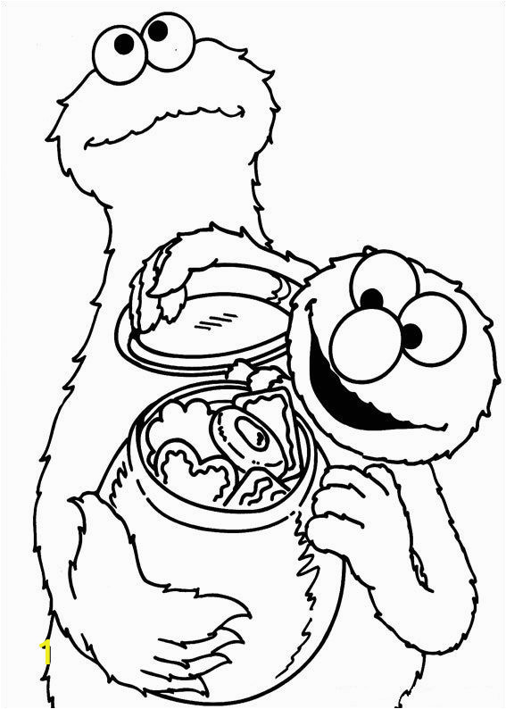 Coloring Pages Baby Cookie Monster Cookie Monster and Elmo