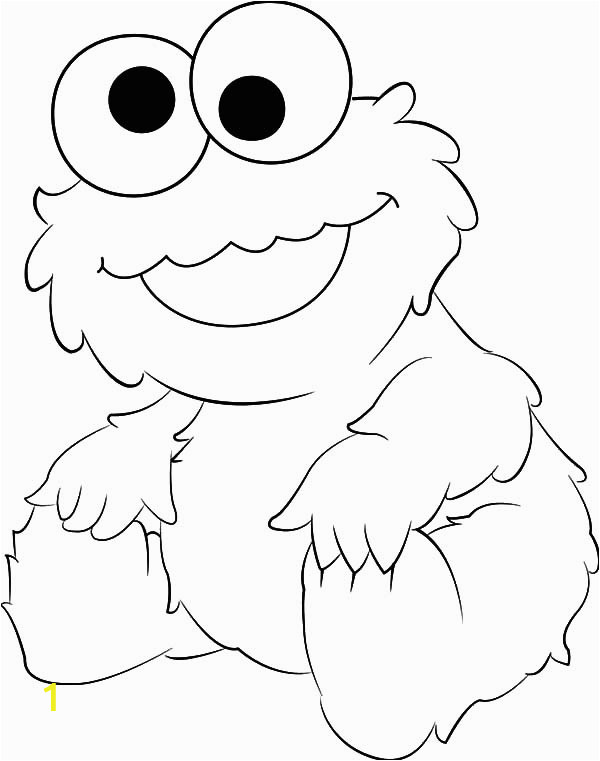 Baby Cookie Monster Coloring Pages