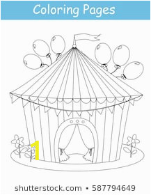 coloring page circus tent vector 260nw