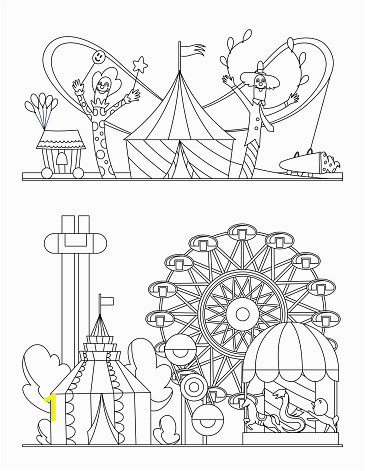 amusement park urban landscape with carousels roller coaster and air vector id