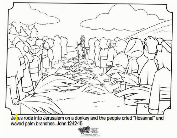 Coloring Pages Of Jerusalem Palm Sunday Bible Coloring Pages