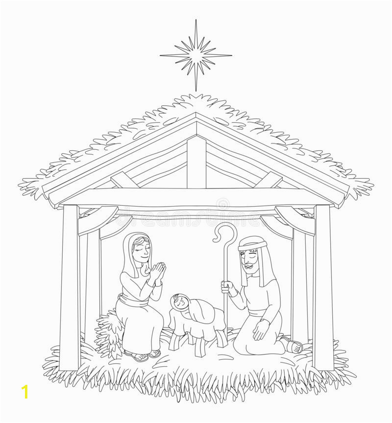 christmas nativity scene cartoon coloring christmas nativity coloring scene cartoon baby jesus mary joseph