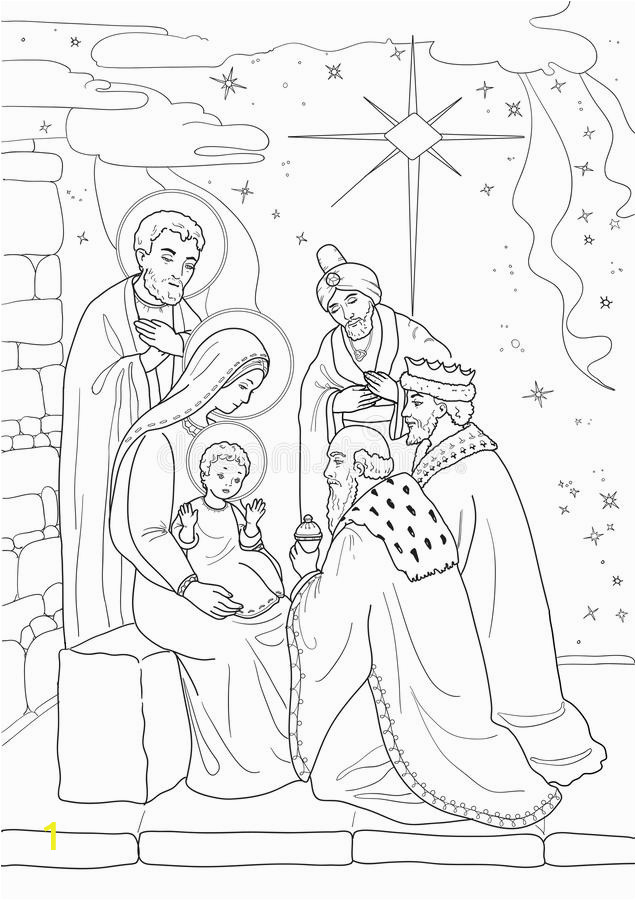 christmas coloring page christmas coloring page baby jesus mary joseph three wise men black white