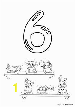 Coloring Pages Of the Number 1 Free Printable Number Coloring Pages 1 10 for Kids
