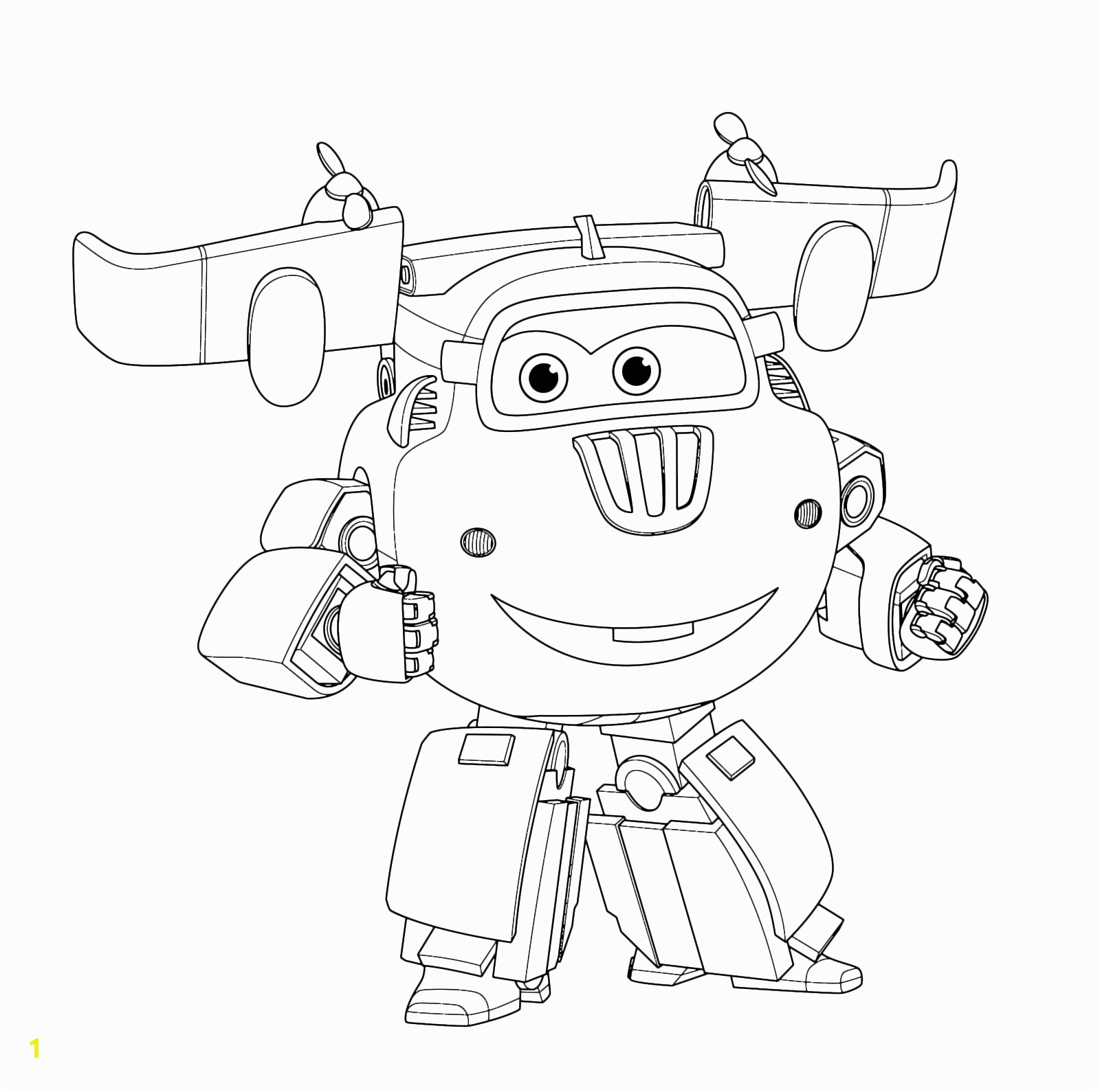 Print Super Wings Coloring Pages