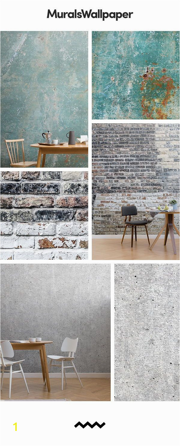 Concrete Wall Mural Ideas the Rustic Dining Room Ideas are Created with Rustic