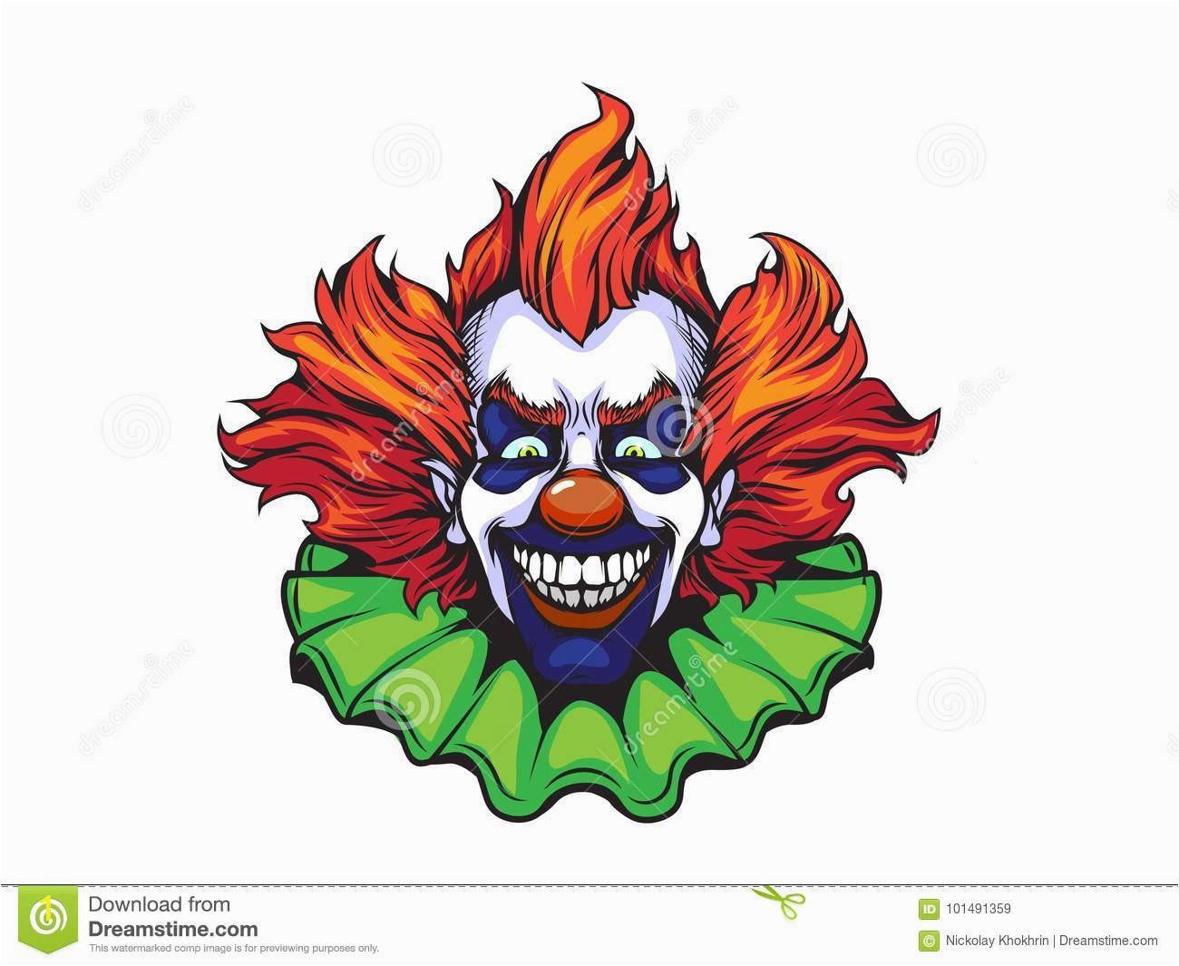 evil clown halloween illustration evil clown halloween illustration nand drawn style