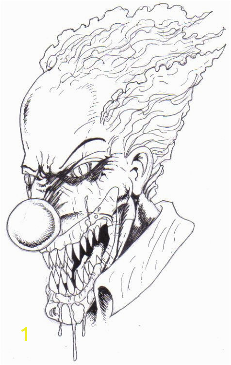 Creepy Clown Coloring Pages How to Draw A Scary Clown