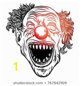 scary clown head concept circus 260nw
