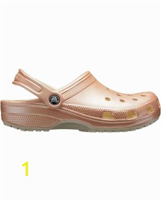 crocs adult classic metallic clogs size m7 w9 pink