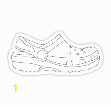Crocs Shoes Coloring Pages White Croc Sticker