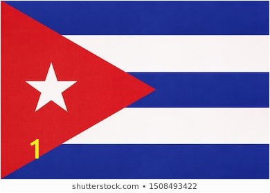 cuba national fabric flag textile 260nw
