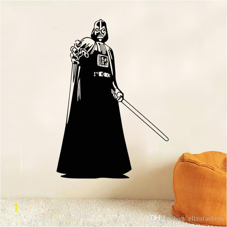 Darth Vader Silhouette Star Wars Wall Art Stickers Decal DIY Home Decoration Decor Wall Mural Removable