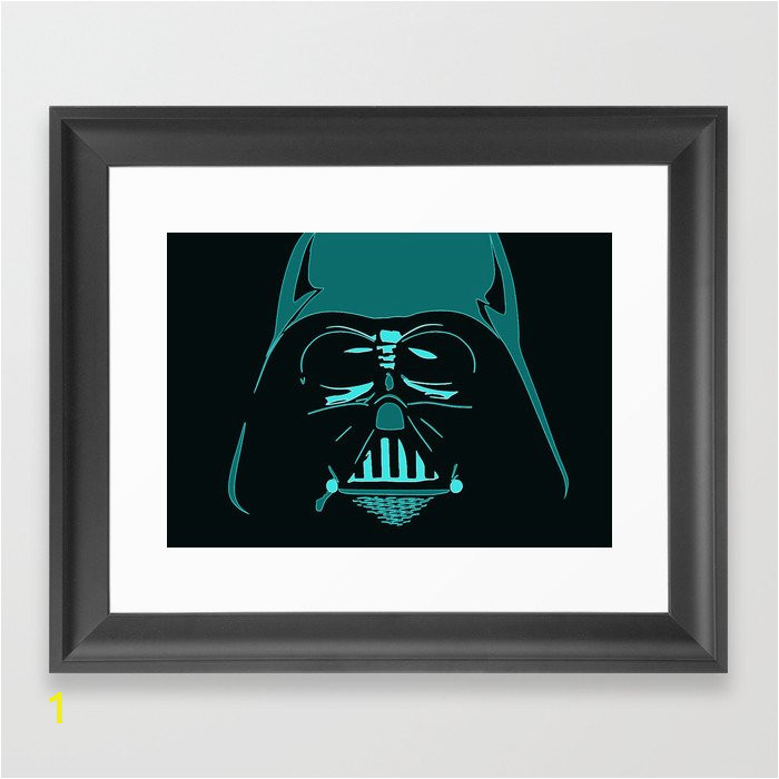 tron darth vader outline framed prints