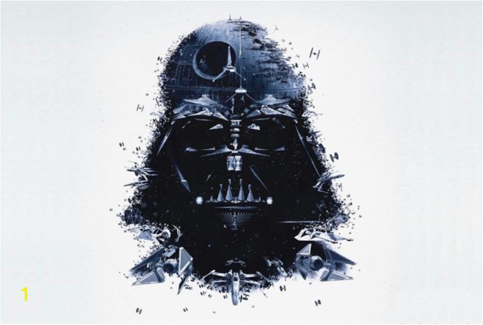 Custom Canvas Wall Decals Star Wars Poster Star Wars Wall Stickers Darth Vader Decor Pinup Sticker