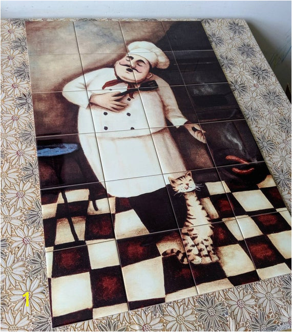 Decorative Wall Tiles Murals Decorative Handmade Ceramic Tile Mural Of Chef F6 Tile Decor Decorative Tiles Ceramic Tiles Tile Mural Kitchen Backsplash Idea Ts Chef