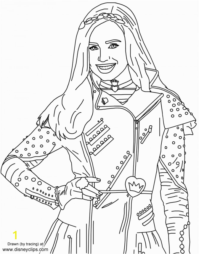 evie from disneys descendants coloring pages splenditable picture inspirations 672x859