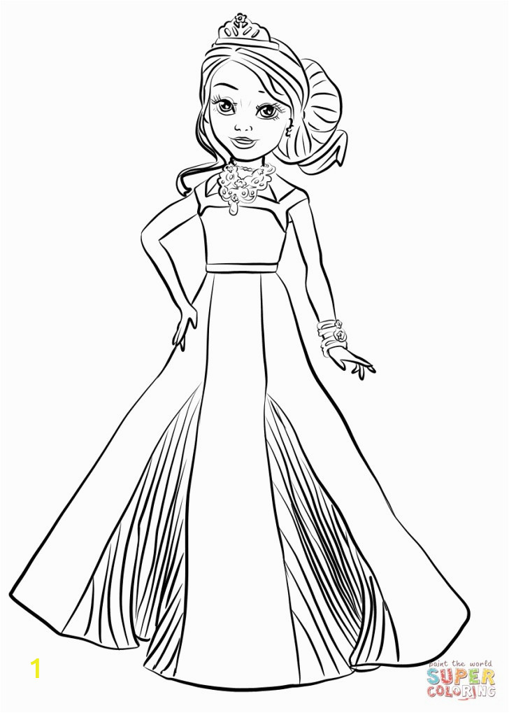 descendants 2 coloring pages free disney auradon coronation audreyring page extraordinary wickedly cool book art of 728x1019 13
