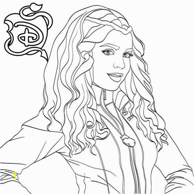 coloring pages pagesendantss mal vs uma disney to print printable descendants dress up unicorn for free 672x672