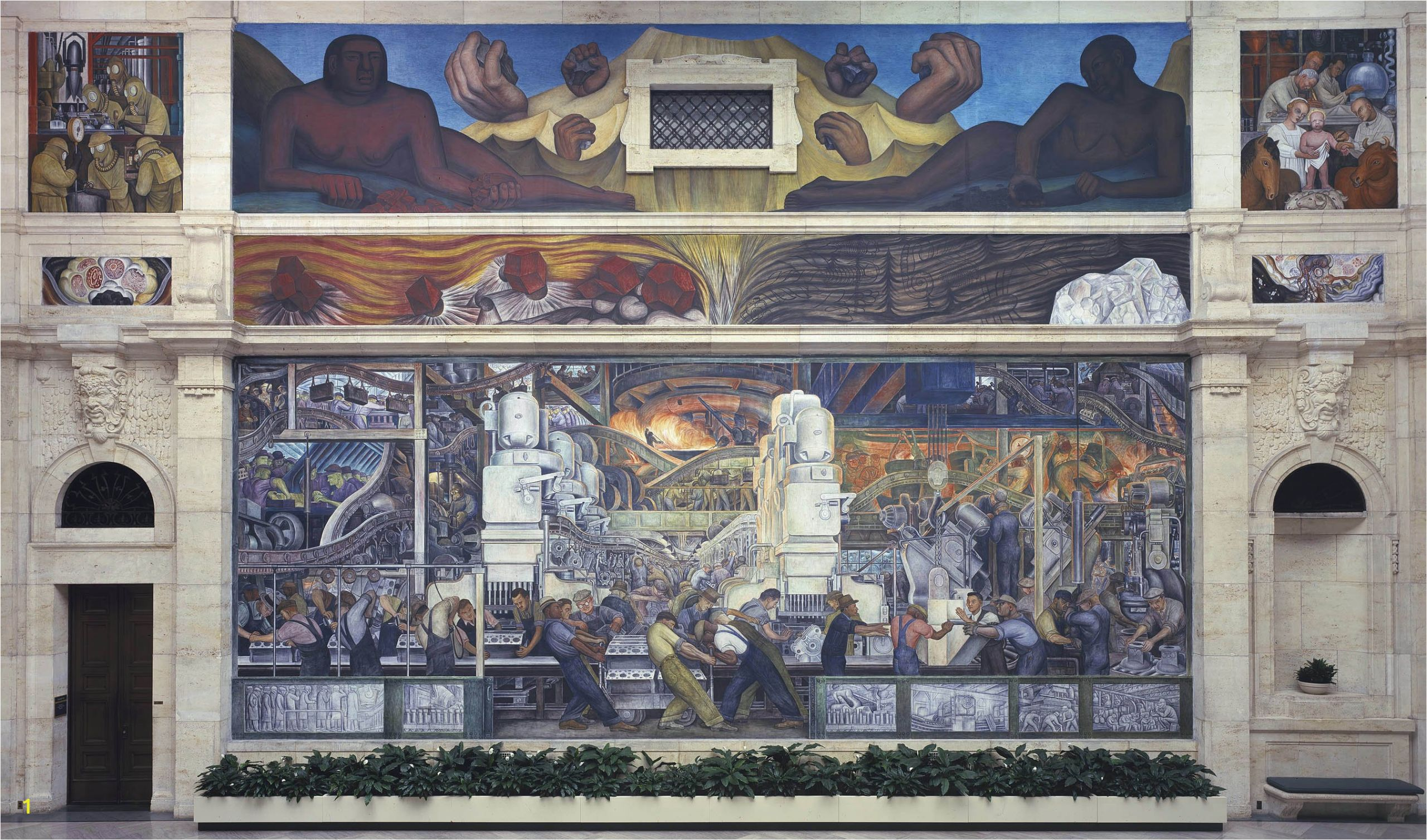 Detroit Industry Murals north Wall Diego Rivera Detroit Industry Fresco Cycle north Wall