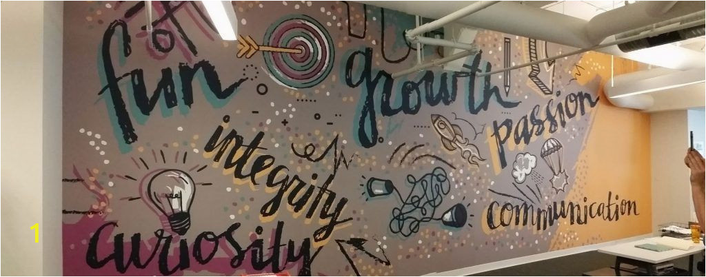 """Digital Printing Wall Murals Canvastac Wall Mural """"fun Growth Integrity Passion"""