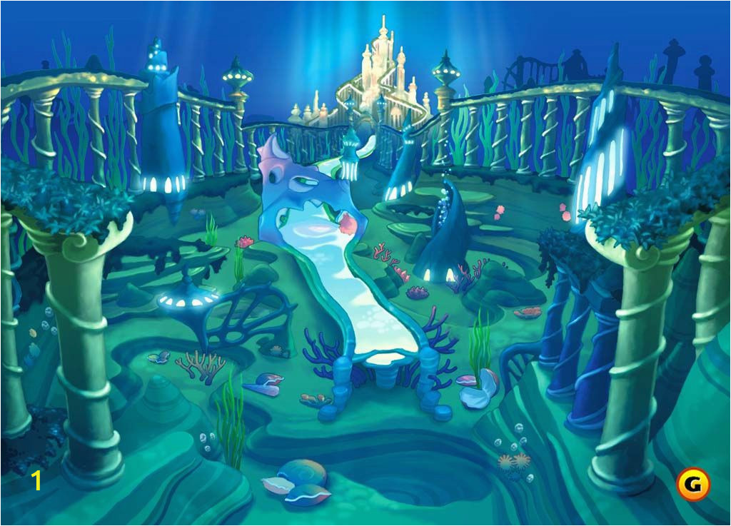 Disney Little Mermaid Wall Mural the Little Mermaid Kingdom Oh