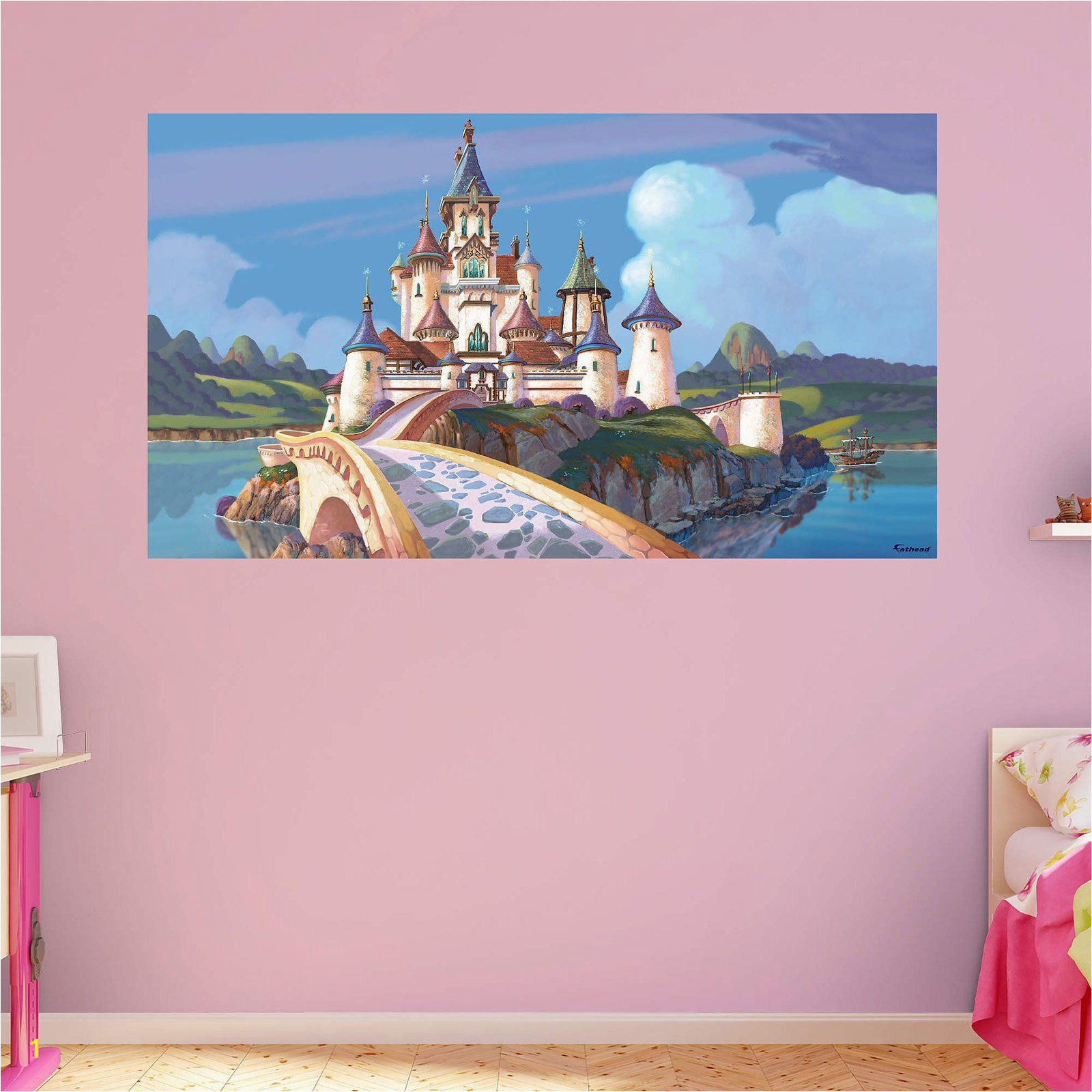 Disney Painted Wall Murals Fathead sofia the First Castle Wall Mural In 2019