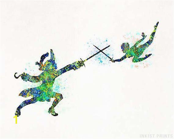 Disney Peter Pan Wall Murals Peter Pan Print Peter Pan Disney Disney Decor Watercolor